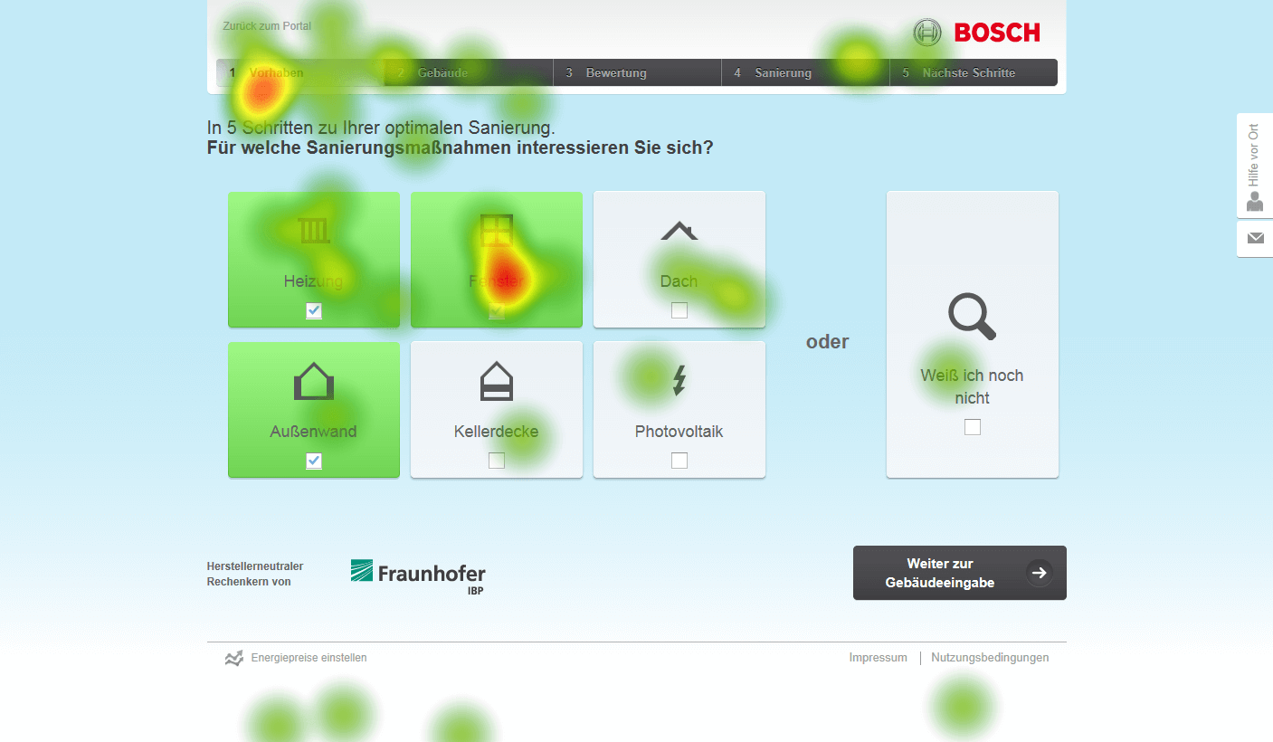 Eye-Tracking Heatmap Bosch