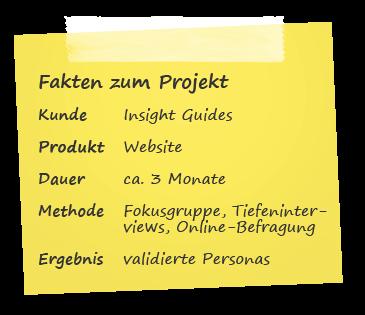 Personas Case-Study Fakten zum Projekt