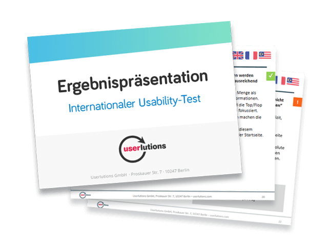 Ergebnisse eines internationalen Usability-Tests