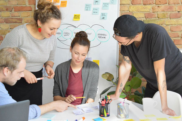 UX-Seminar entlang des User-Centered-Design-Prozesses mit Methoden wie Design-Thinking, User-Research und Usability-Tests