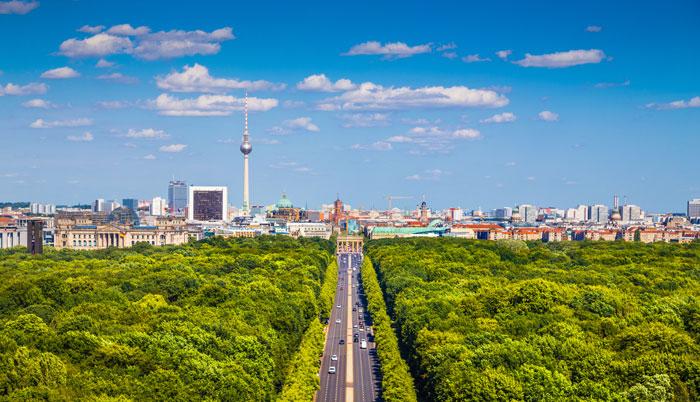 Der Tiergarten in Berlin ist Heimat für 200.000 Bäume.